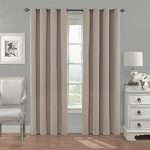 Eclipse Nadya Solid Blackout Window Curtain Panel, 84-Inch, Linen