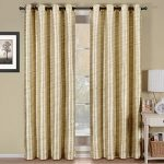 Deluxe Draperies Triple-Pass Foam Back Layer Geneva 52-Inch-by-96-Inch Panel Blackout Curtain with Top Grommet, Ivory