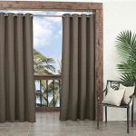 Parasol Key Largo Indoor/Outdoor Curtain Panel, 52 by 84-Inch, Caramel