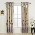 IYUEGO Floral Polyester Purple Blackout Rod Pocket Curtain Draps With Multi Size Customs 42″ W x 84″ L (One Panel)