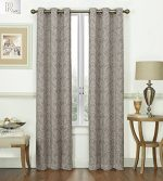 2 Pack: Regal Home Collections Paisley Design Energy Saving & Noise Reducing Blackout Curtain Panels – Assorted Colors (Dark Grey)