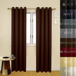 Prestige Home Fashion Thermal Insulated Blackout Curtain – Antique Bronze Grommet Top – Chocolate – 52″W x 108″L, 1 Panel