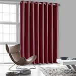 Luxury Homes Solid Premium Quality Thermal Insulated Blackout Curtains With Antique Bronze Grommet Ring Top – 104″Wx84″L (Burgundy)