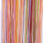 Tangpan 7 Color Colorful Door String Thread Fringe Window Panel Room Divider Curtain Strip Tassel