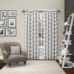 Eclipse 15613056X084GRY Pairs to Go Dewitt Window Curtains (2 Pack), 56″ x 84″, Gray