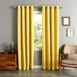 Gorgeous Home (#60) 1 PANEL SOLID BRIGHT YELLOW THERMAL LINED FOAM BLACKOUT HEAVY THICK WINDOW TREATMENT CURTAIN DRAPES SILVER GROMMETS (84″ LENGTH)