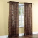 Gorgeous Home (SHEER) 2PC BROWN LEOPARD STANDARD SIZE 55″WIDE X 95″ LENGHT PRINTED COLOR SOFT VOILE SHEER WINDOW CURTAIN PANEL ROD POCKET DRAPE TREATMENT FOR MULTIPLE USE