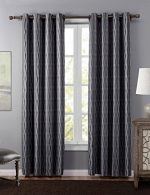 Sxshome Noise Reducing Room Darkening Blackout Thermal Insulated Treatment Window Curtains Panel and Drapes for Bedroom and Living Room (52 By 84 Inch,1 Panel,Dark grey)