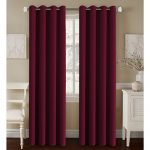 H.Versailtex Premium Blackout Thermal Insulated Room Darkening Curtains for Bedroom/Living Room – Grommet Top (Burgundy Red, 52 by 84 – Inch, Set of 2 Panels)