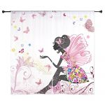 CafePress – Whimsical Pink Flower Fairy Girl Butterfl Curtains – 60″ Decorative Window Curtains, Sheer Drapery Window Treatment