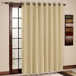 RHF Wide Thermal Blackout Patio door Curtain Panel, Sliding door insulated curtains,Thermal curtains,Extra Wide curtains:100W by 84L Inches-Beige