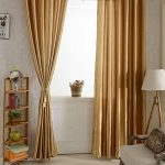 Abill Can Wash Satin Fabric Blackout Curtains Sunblind Drapes For Bedroom 37.4*78.7″ Gold