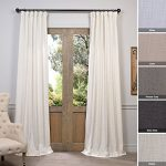 Half Price Drapes FHLCH-VET13192-108 Barley Heavy Faux Linen Curtain, 50″ x 108″, Brown