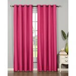 Bella Luna Euphoria Microfiber Room Darkening Extra Wide 54 x 84 in. Grommet Curtain Panel, Pink