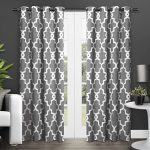 Exclusive Home Ironwork Room Darkening Thermal Grommet Top Window Curtain Panels – 52″ X 84″, Black Pearl, Sold as Set of 2 / Pair