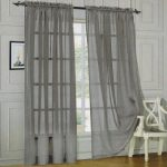 Elegant Comfort 2-Piece Solid Sheer Window Curtains, 60 x 84-Inch, Silver