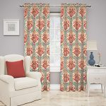 Traditions by Waverly Dressed up Damask Window Panel, Poppy