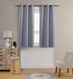 Mysky Home Grommet Top Thermal Insulated Window Blackout Curtain for Living Room, 42 by 63 inch, Grey (1 panel)
