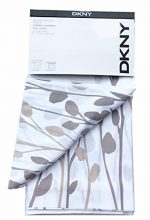 DKNY Carroll Gardens Floral Road Pocket Curtains 100% Cotton 50 by 96-inch Set of 2 Floral Window Panels White Beige Tan Taupe Flowers Branches