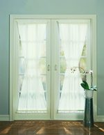No. 918 Emily Sheer Voile Single Curtain Door Panel, 59 x 72 Inch, Eggshell
