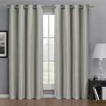 Pair of Two Top Grommet Gulfport Faux Linen Blackout Weave Thermal Insulated Curtain Panels, Triple-Pass Yarn Back Layer, Elegant and Contemporary Gulfport Blackout Panels, Set of Two Linen 52″ by 108″ Panels (104″ by 108″ Pair)