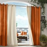 Outdoor decor Gazebo Stripe Indoor Outdoor Window Panels, 50 by 84, Orange