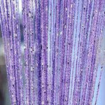 Eve Split Decorative Door String Curtain Wall Panel Fringe Window Room Divider Blind Divider Crystal Tassel Screen Home 100cm200cm(Light purple)