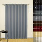 Prestige Home Fashion Wide Width Thermal Insulated Blackout Curtain – Antique Bronze Grommet Top – Grey – 100″W x 84″L, 1 Panel