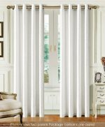 Dainty Home Madrid Grommet Faux Silk Solid Window Panel, 55 by 84-Inch, White