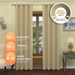 Lana – Premium Thermal Insulated Blackout Curtain – Luxury Solid Draperies – Advanced Insulation Technology – Blocks 99% of Sunlight – Perfect for Any Room (54″W x 84″L – Single Panel, Taupe)