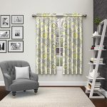 Eclipse 15616056X063GRE Pairs to Go Bradway Window Curtains (2 Pack), 56″ x 63″, Grey
