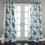 Lush Decor Floral Paisley Window Curtain Panel (Set of 2), 84 x 52″, Blue
