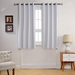 MYSKY HOME Solid Grommet top Thermal Insulated Window Blackout Curtains, 52 by 63 inch, Greyish White (1 panel)