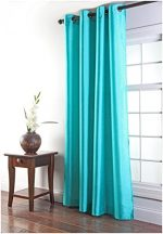 Stylemaster Tribeca 56 by 95-Inch Faux Silk Grommet Panel, Turquoise