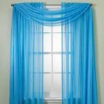 MONAGIFTS 2 PANELS BRIGHT TURQUOISE Sheer Voile Window Panel curtains 59″ WIDTH X 84″ LENGTH EACH PANEL