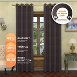 Lana – Premium Thermal Insulated Blackout Curtain – Luxury Solid Draperies – Advanced Insulation Technology – Blocks 99% of Sunlight – Perfect for Any Room (54″W x 84″L – Single Panel, Charcoal)